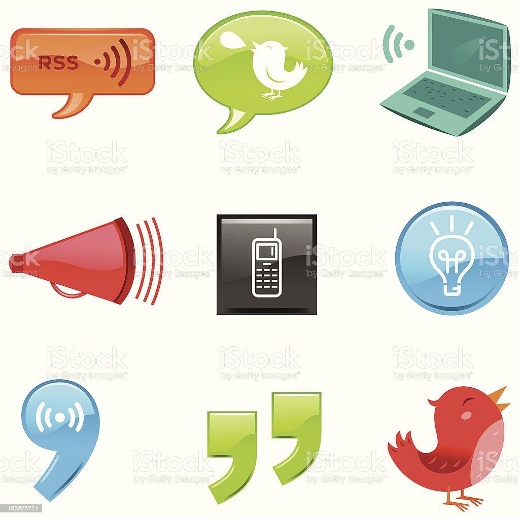 Micro BlogCons vector art illustration