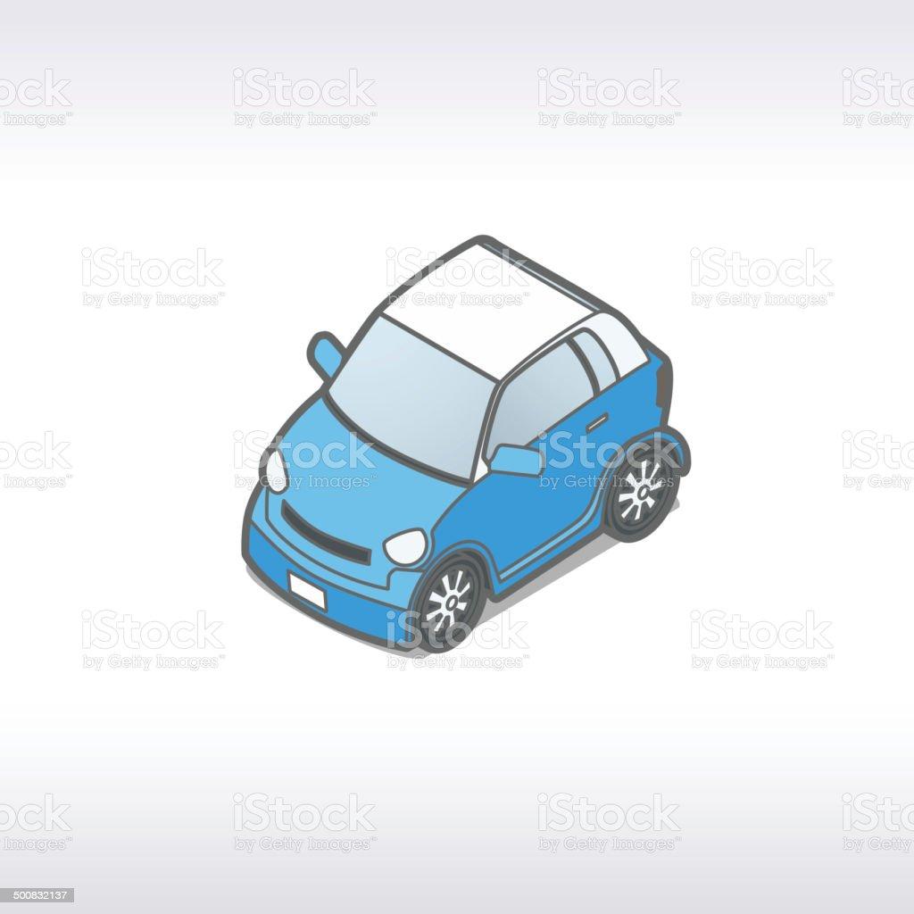 Microcar Illustration royalty-free stock vector art
