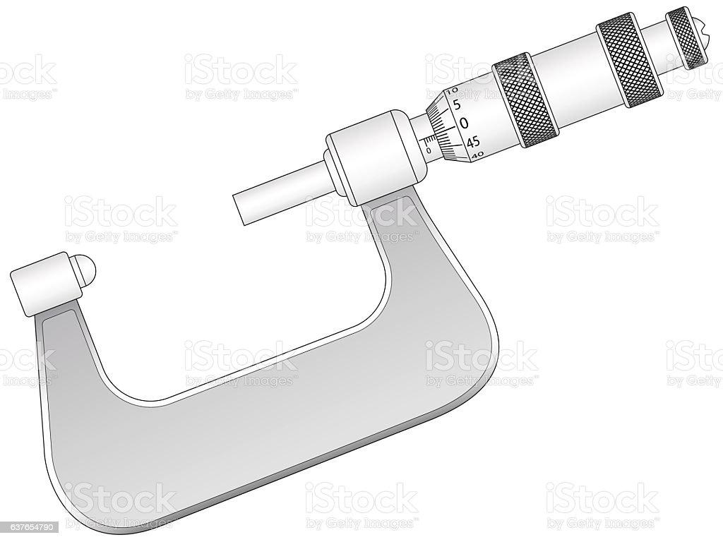 Micrometer vector art illustration