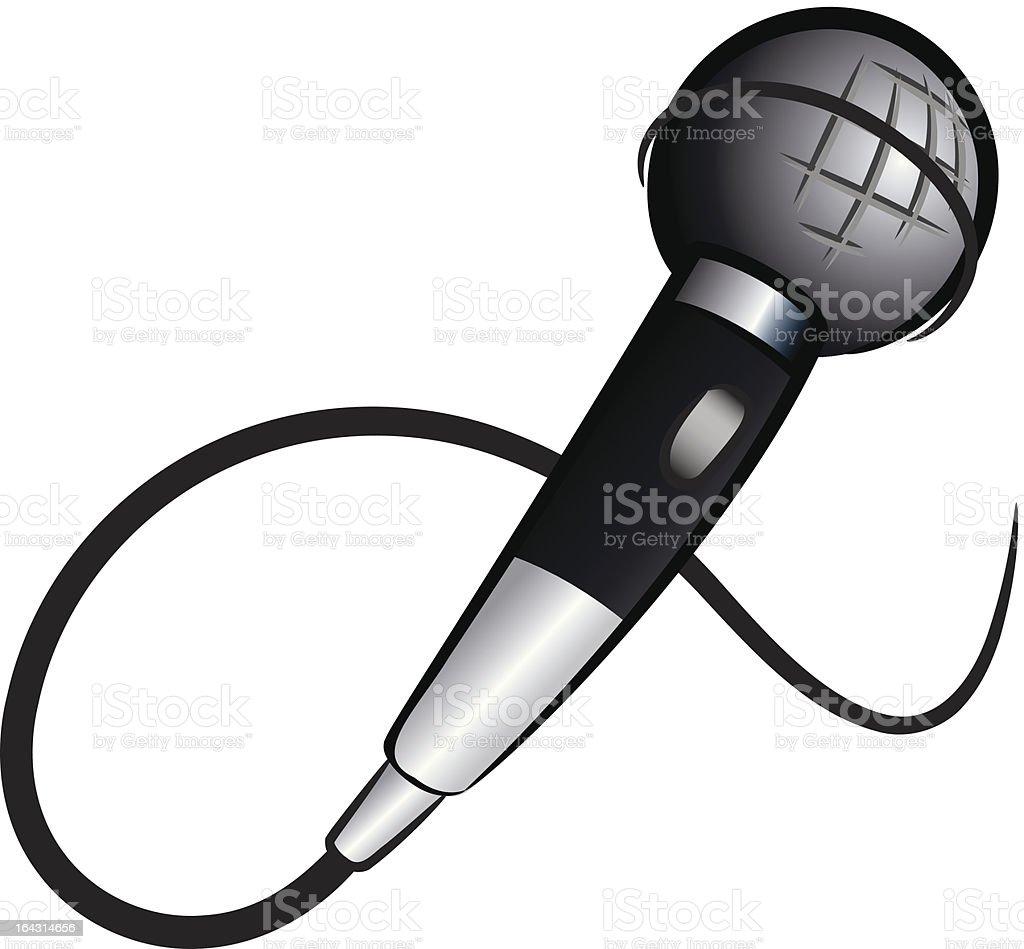 Microphone cartoon royalty-free stock vector art