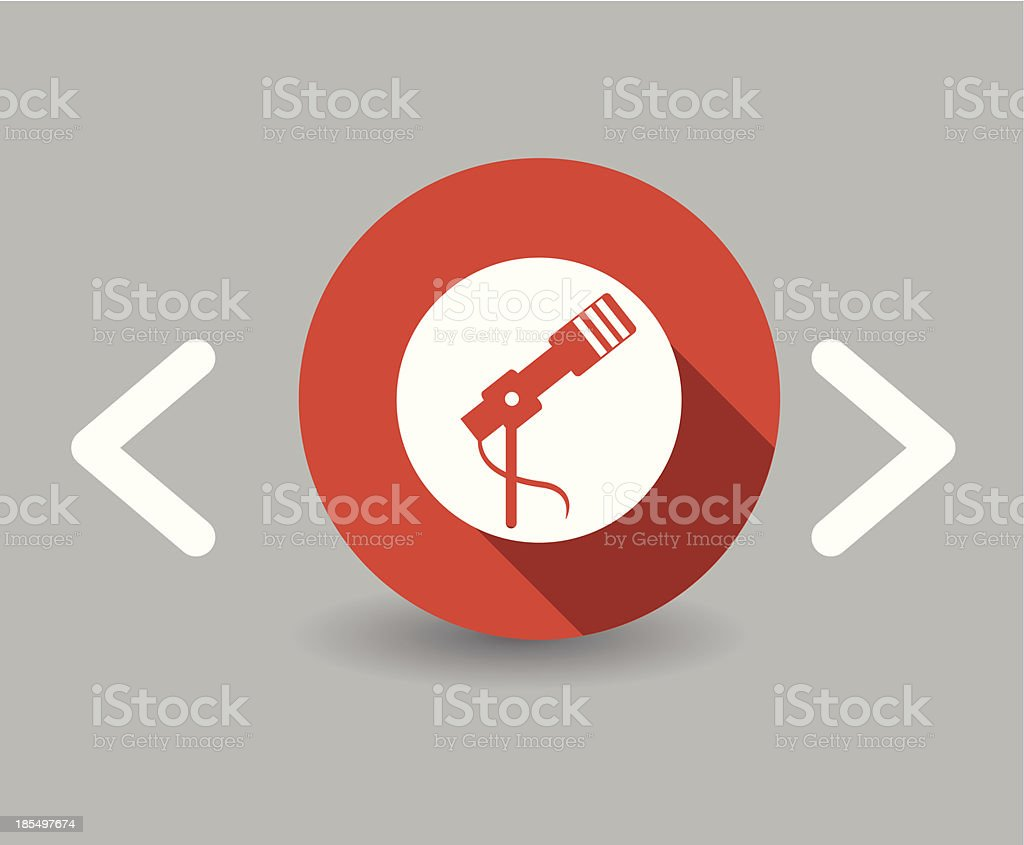 microphone icon royalty-free stock vector art