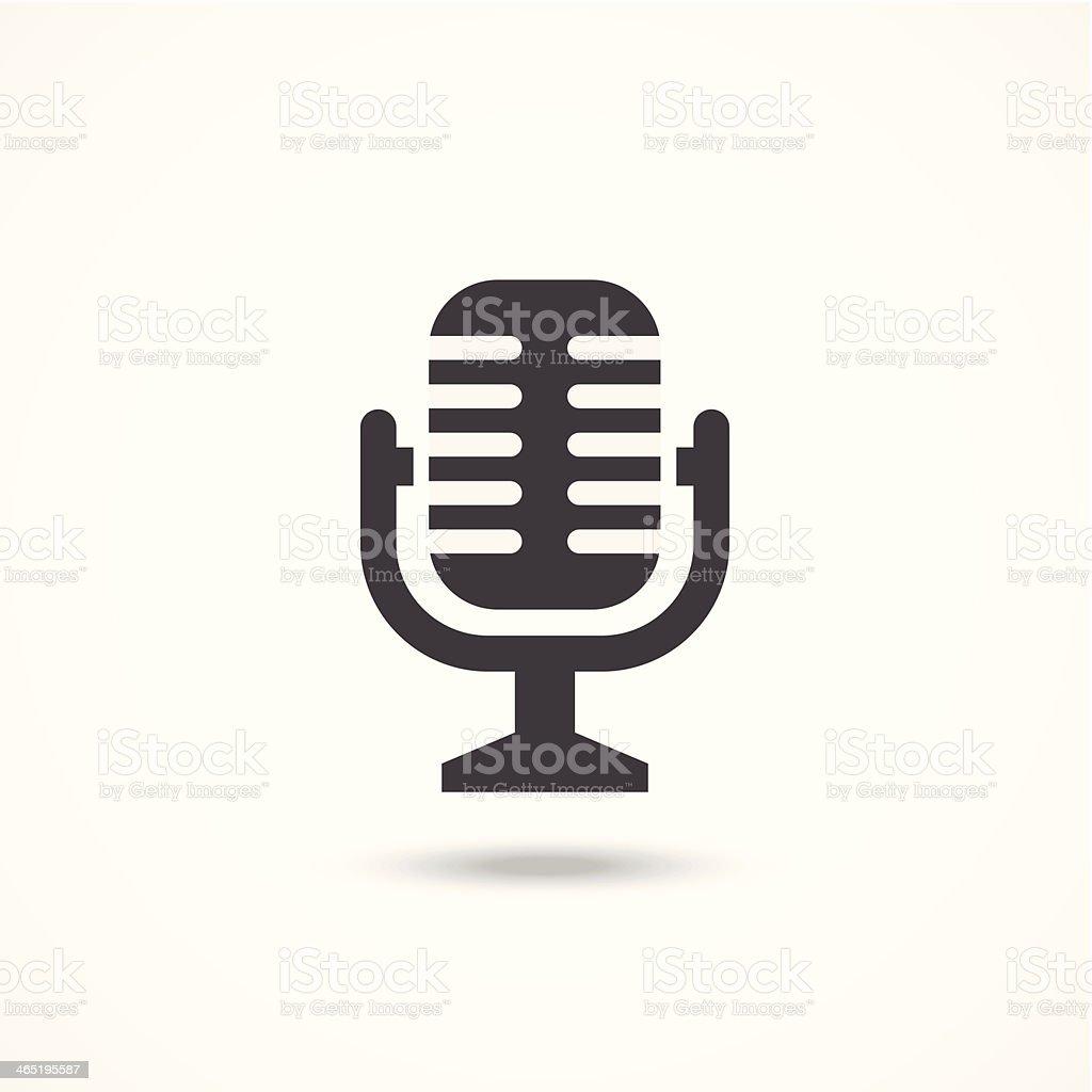 Microphone icon vector art illustration