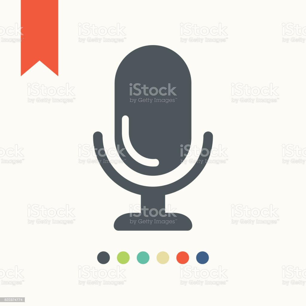 Microphone icon vector art illustration