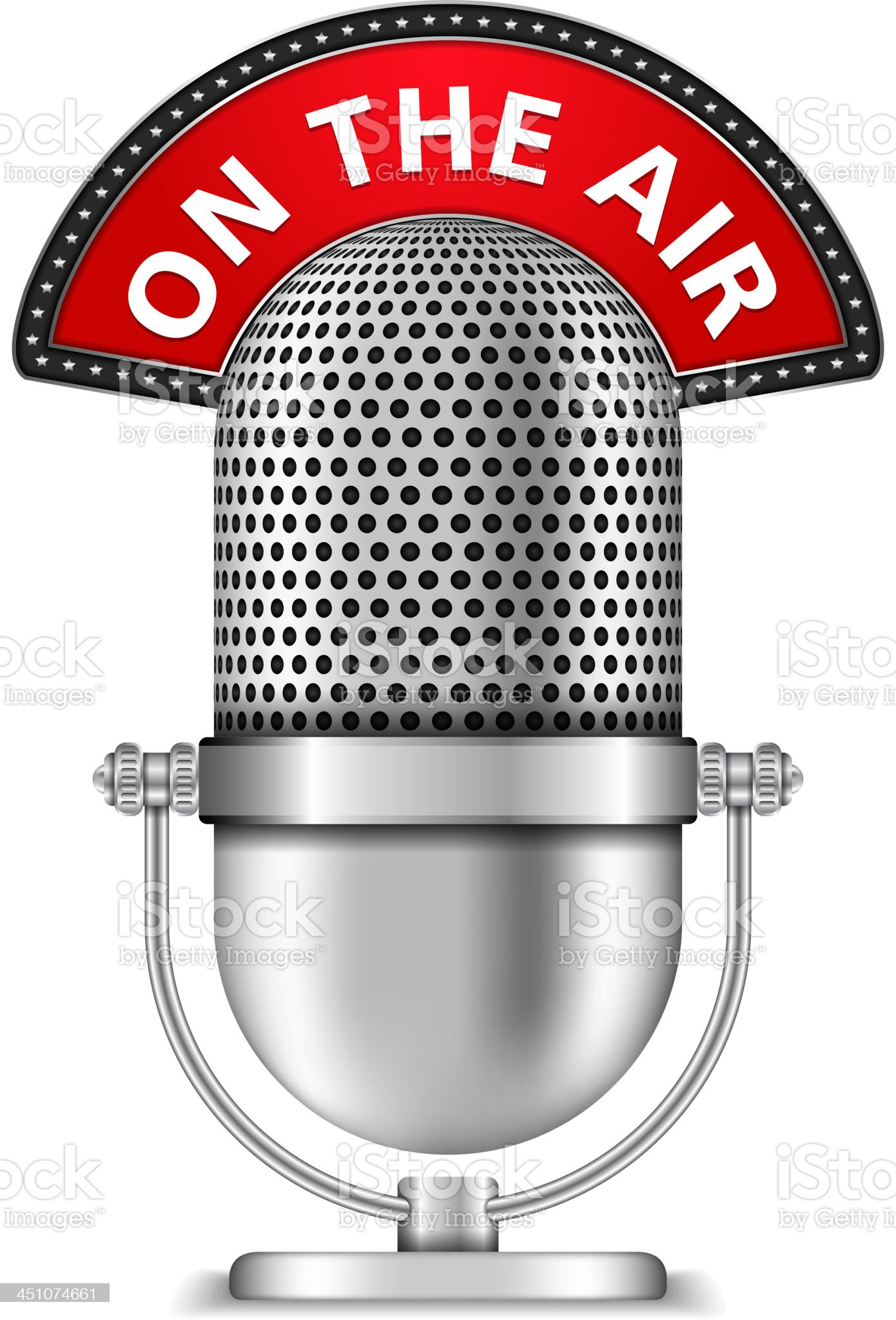 Microphone On The Air royalty-free stock vector art