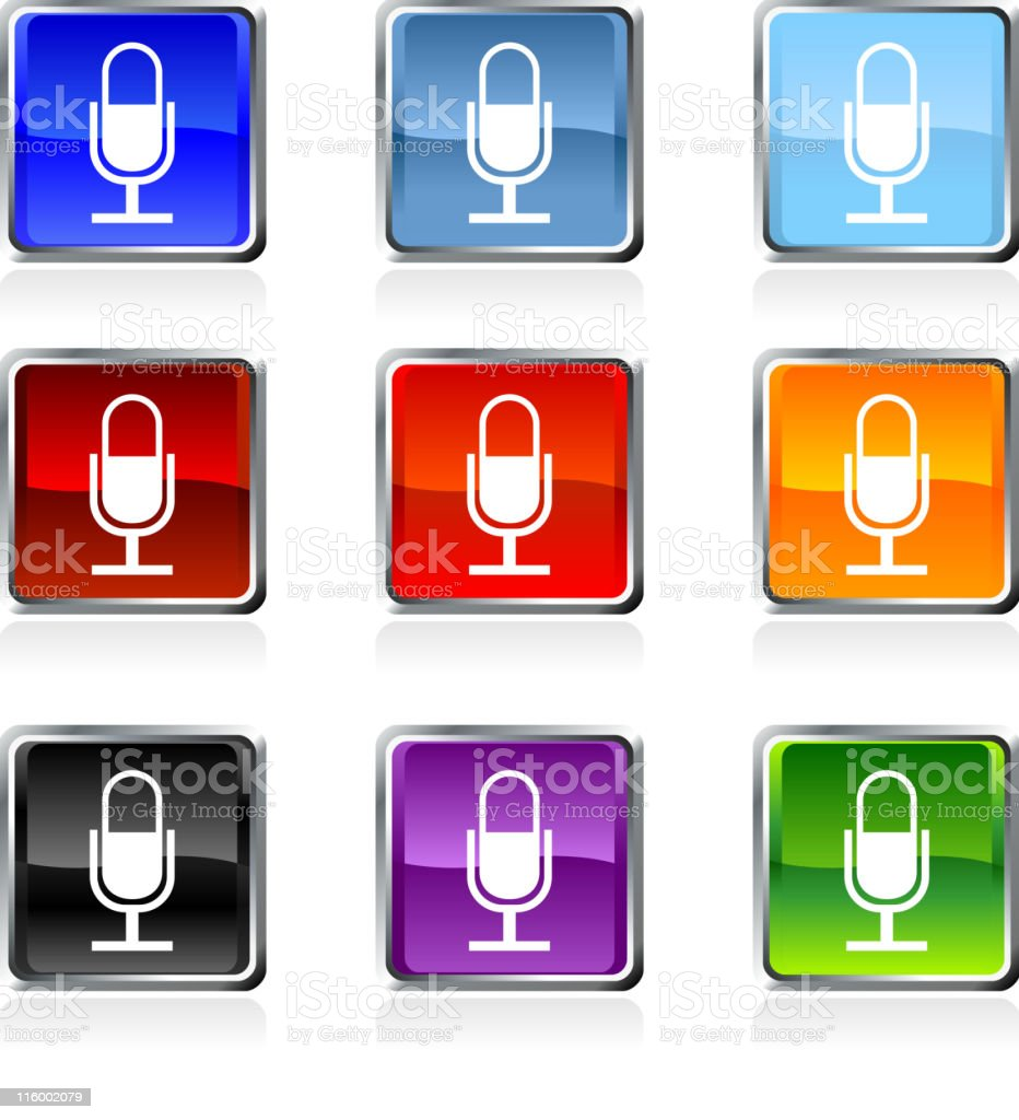 microphone royalty free vector art in nine colors royalty-free stock vector art