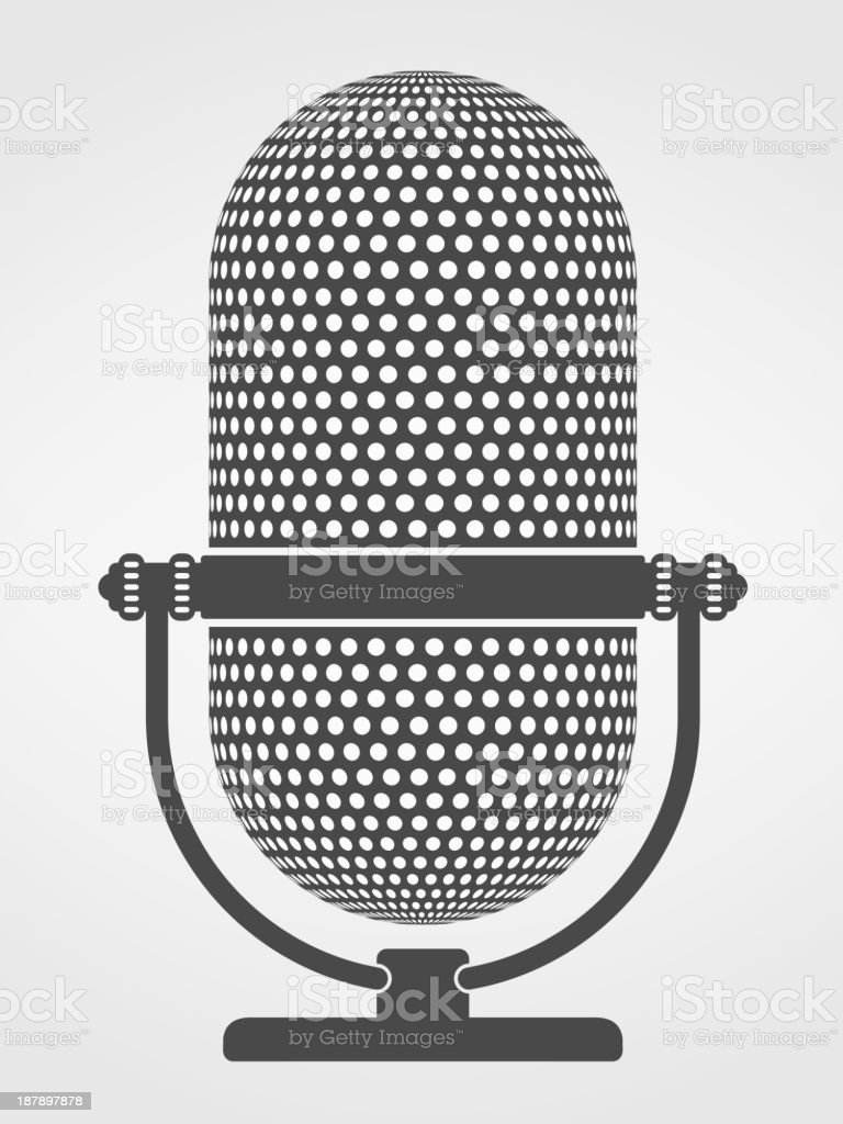 Microphone Silhouette royalty-free stock vector art