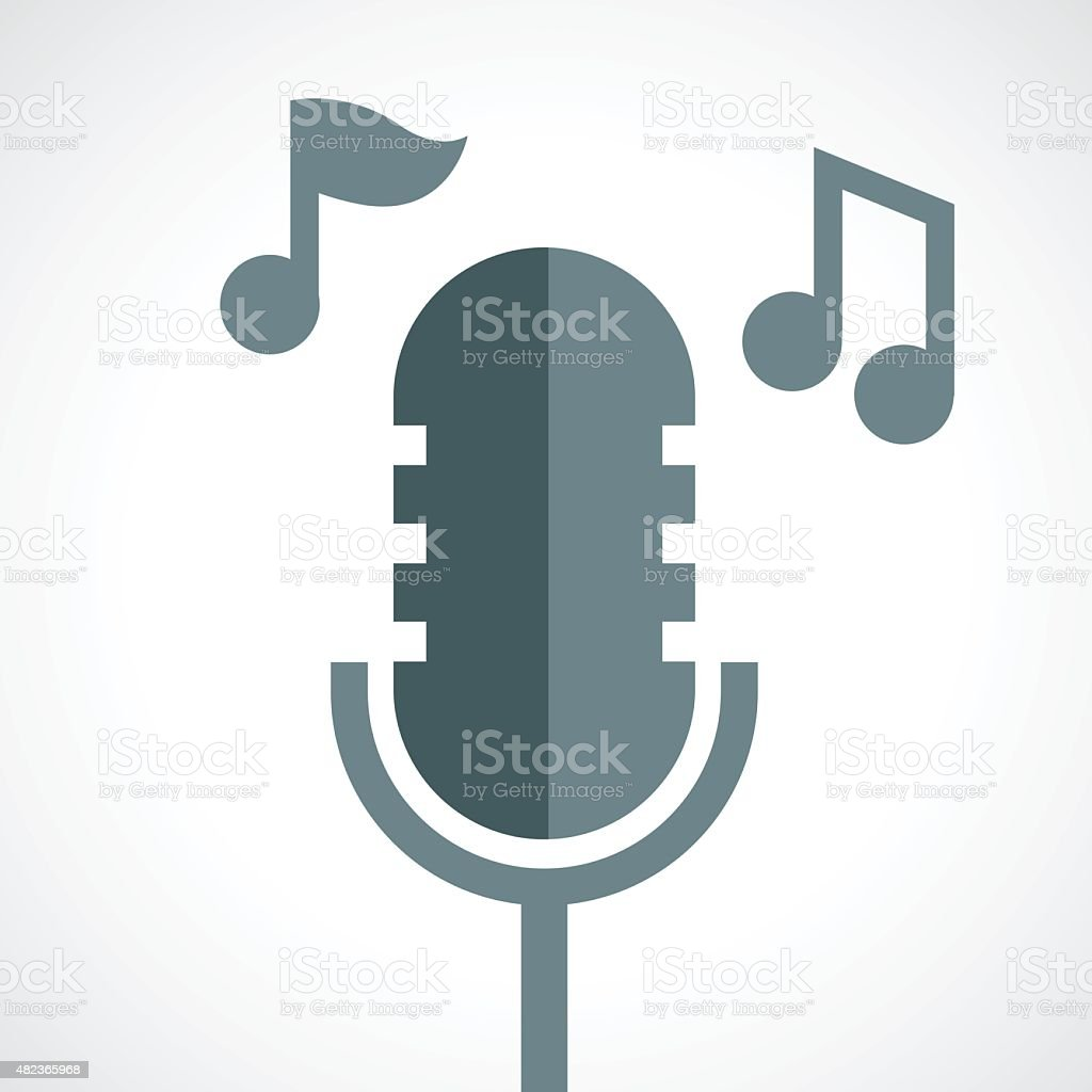 microphone vector icon vector art illustration