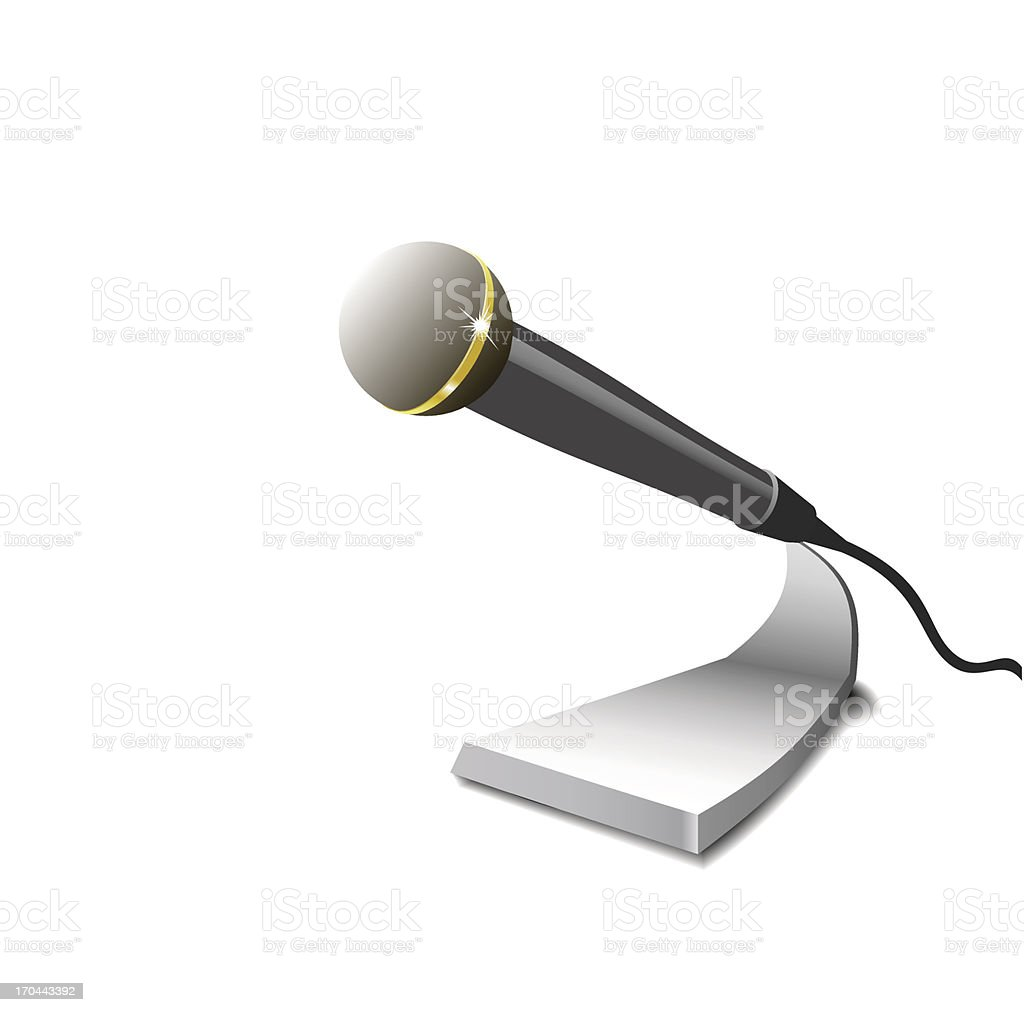 Microphone. royalty-free stock vector art