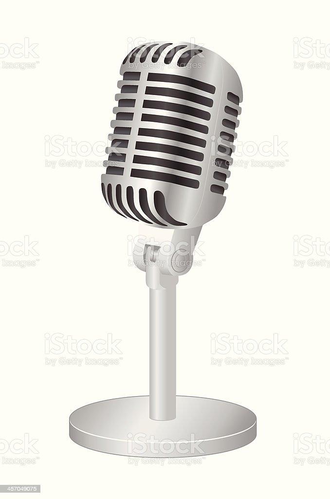 Microphone vector art illustration