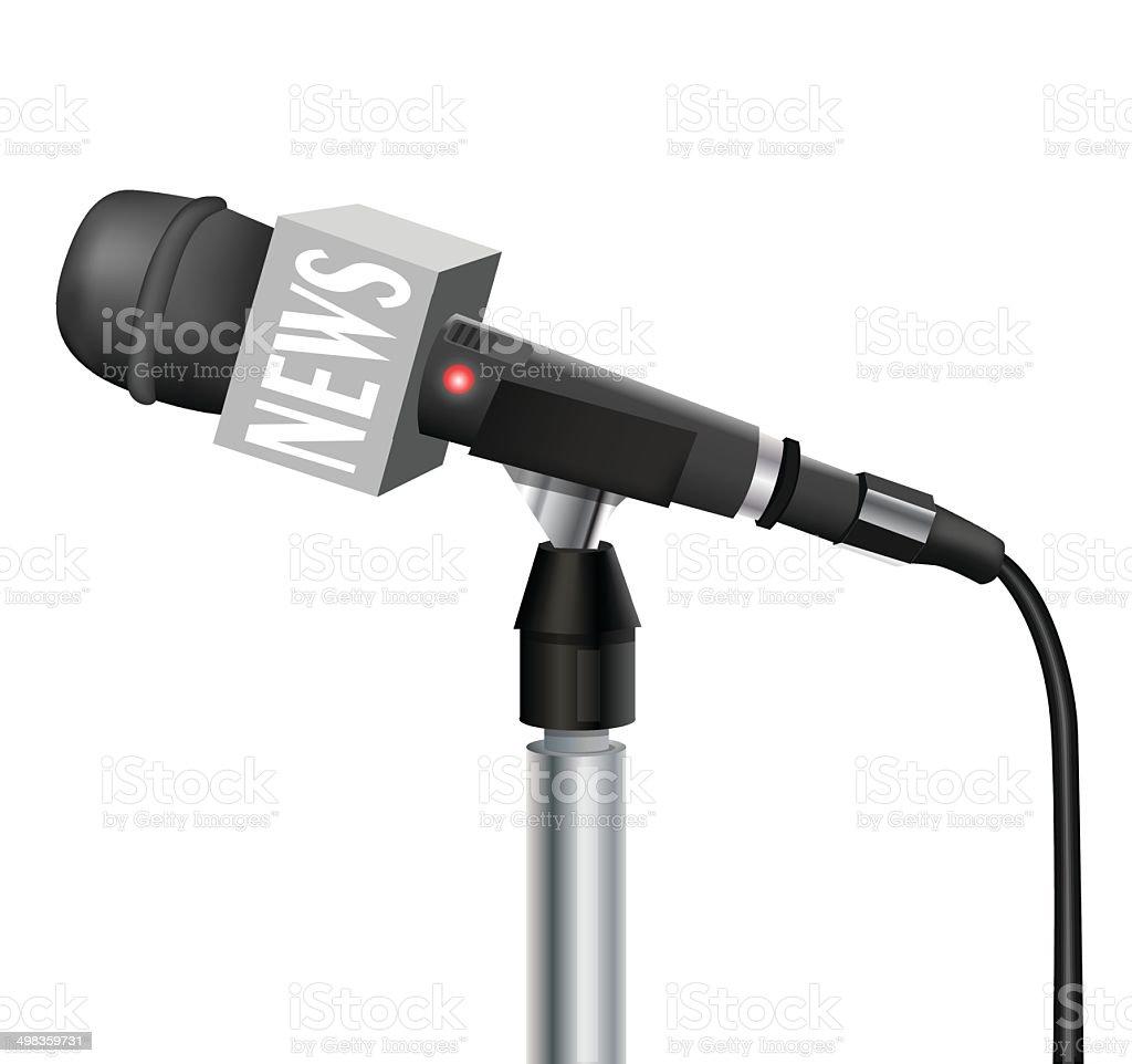 Microphone stock vecteur libres de droits libre de droits