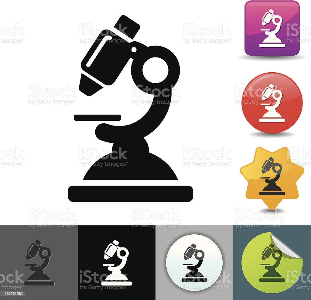 Microscope icon | solicosi series vector art illustration