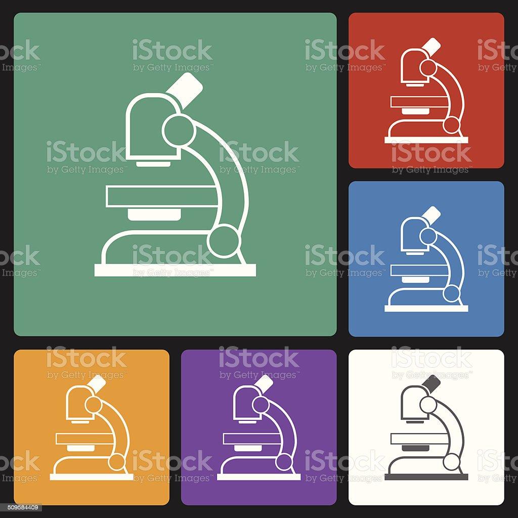 microscope icon vector art illustration