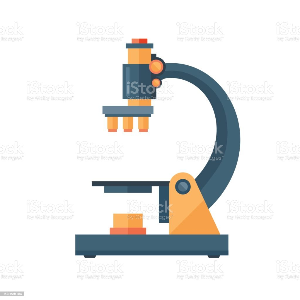 Microscope science space discovery instrument vector illustration vector art illustration