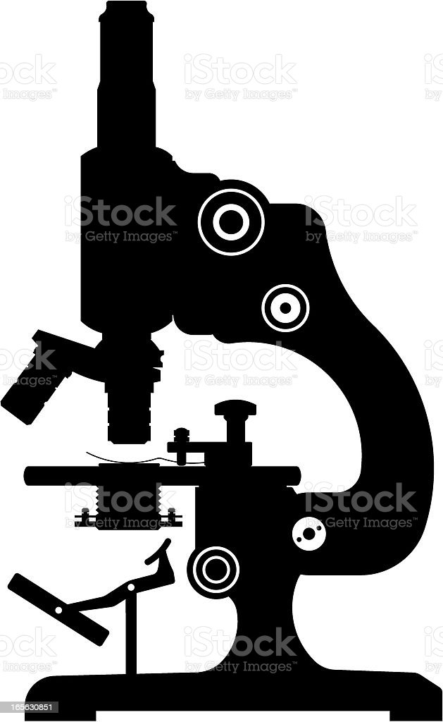 microscope silhouette royalty-free stock vector art