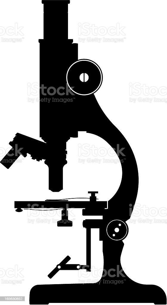 microscope silhouette royalty-free stock vector art