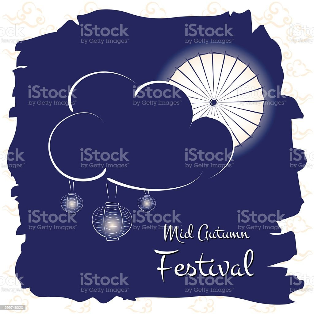 Mid Autumn Festival vector (Chuseok) vector art illustration