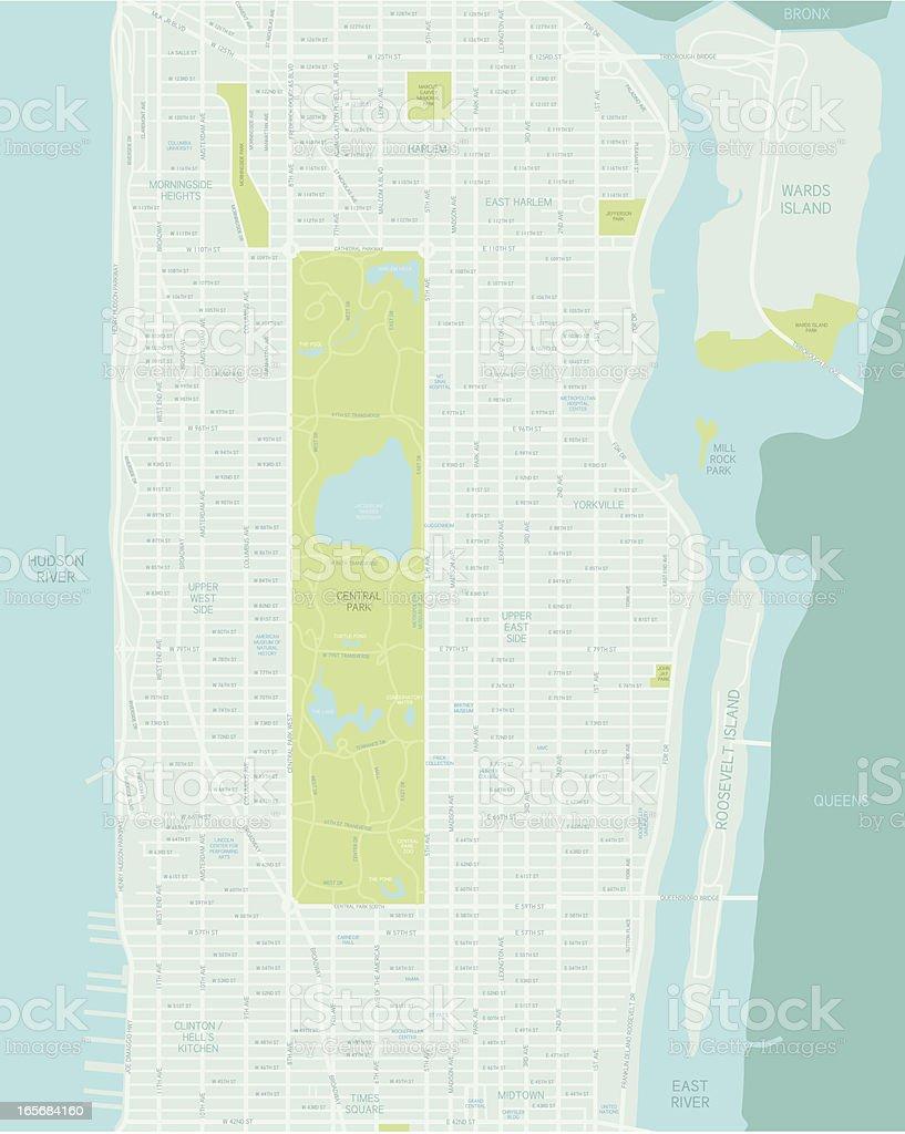 Mid Manhattan Map royalty-free stock vector art