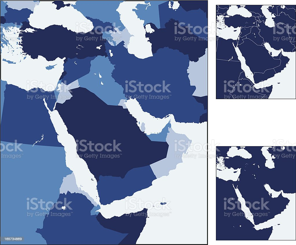 Middle East royalty-free stock vector art