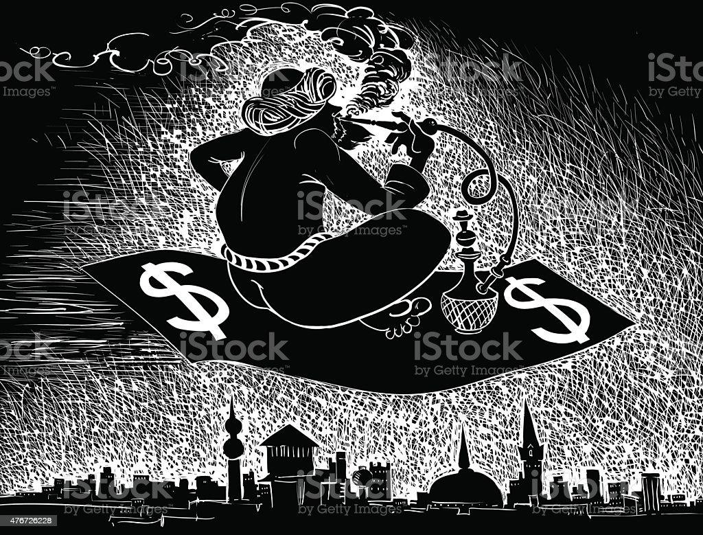 Middle East vector art illustration