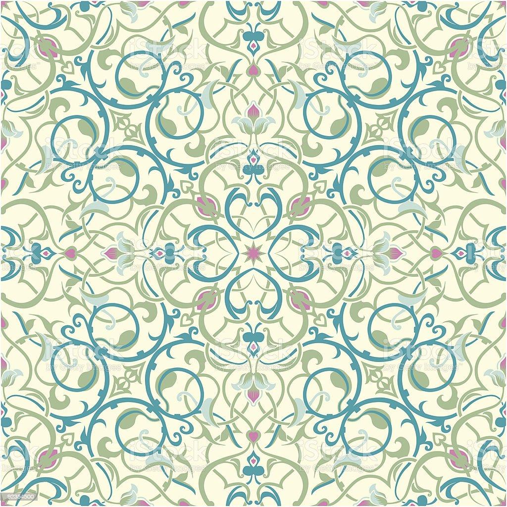 middle eastern inspired seamless tile design royalty-free stock vector art