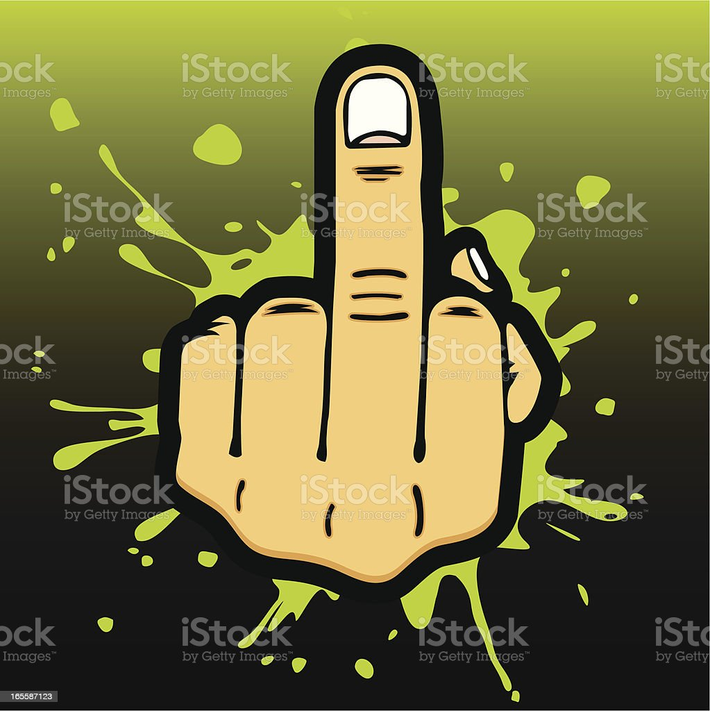 Middle Finger Salute vector art illustration
