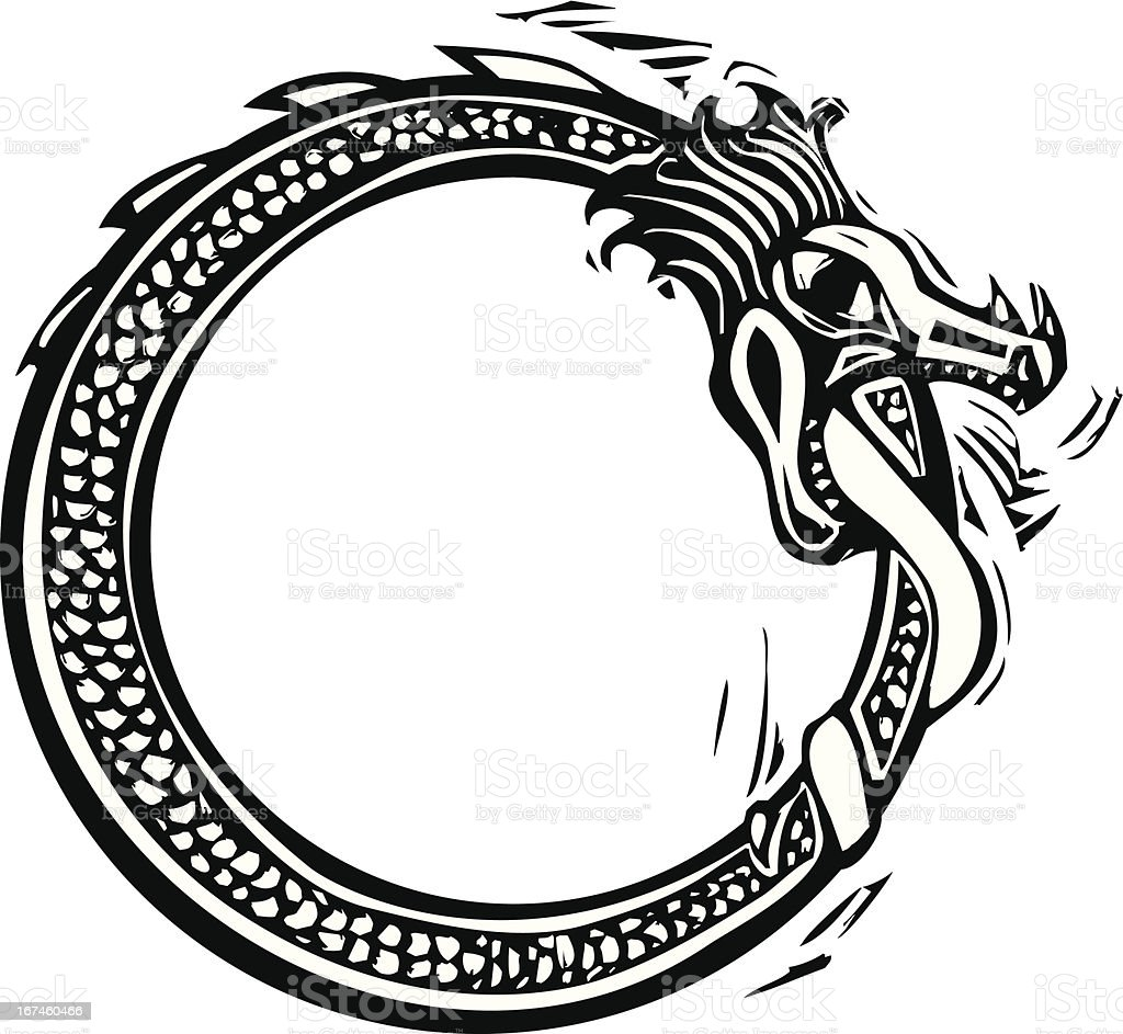 Midgard Serpent royalty-free stock vector art