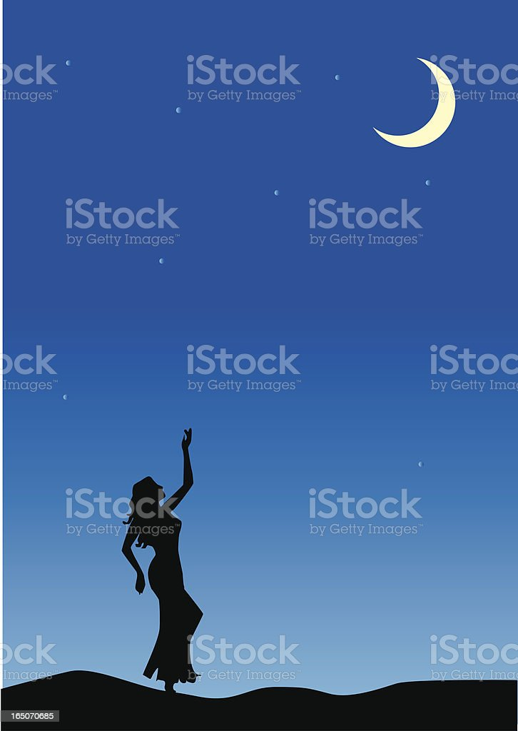 midnight at the oasis royalty-free stock vector art