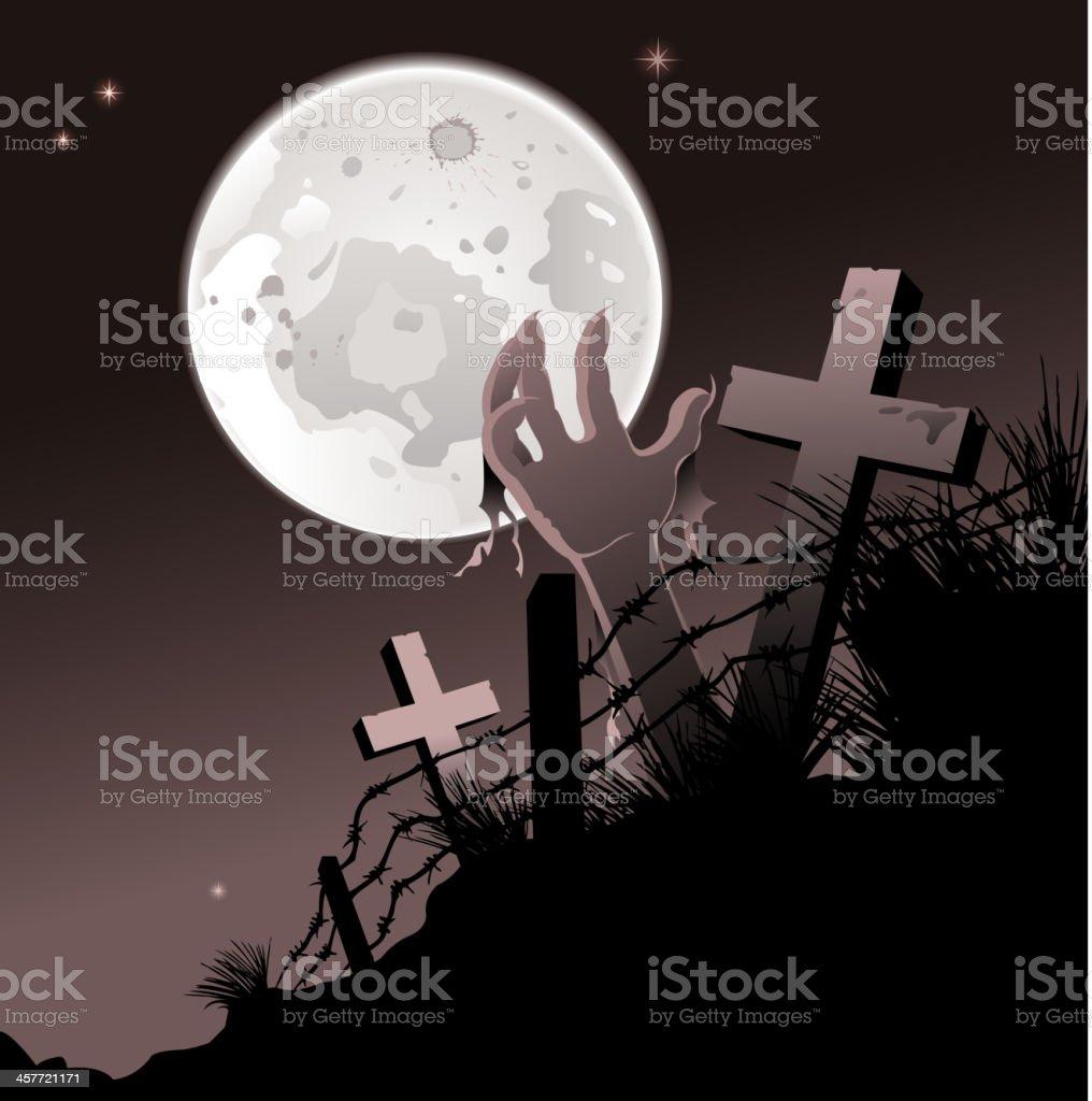 midnight halloween royalty-free stock vector art