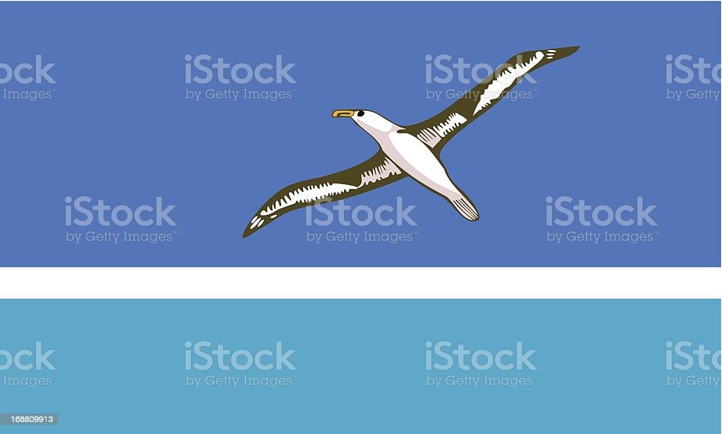 Midway Islands Flag royalty-free stock vector art
