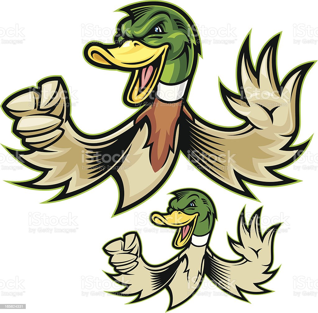 Mighty Duck vector art illustration