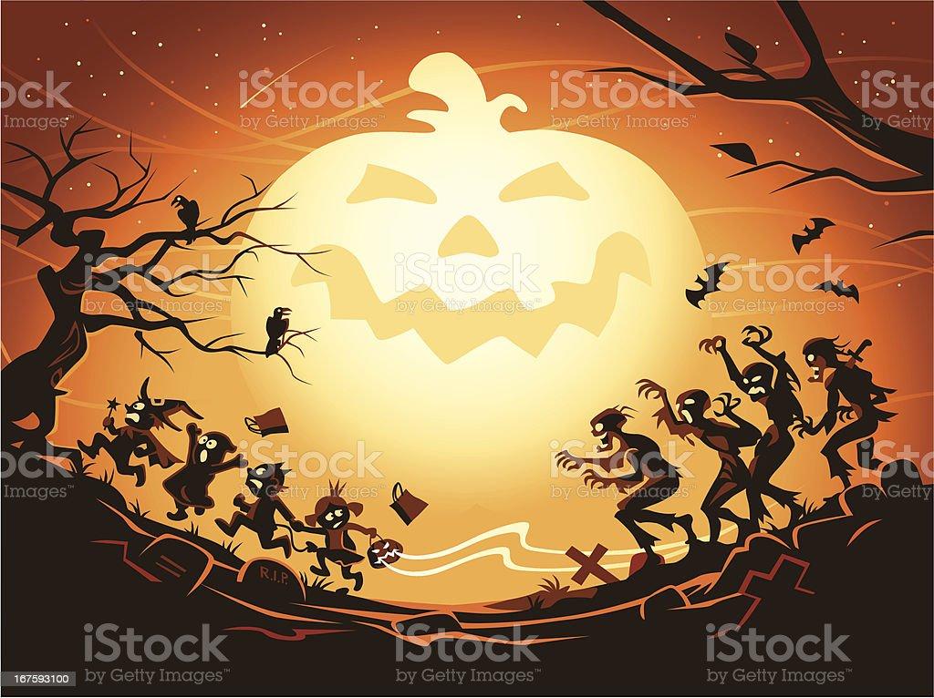 Mighty Pumpkin vector art illustration