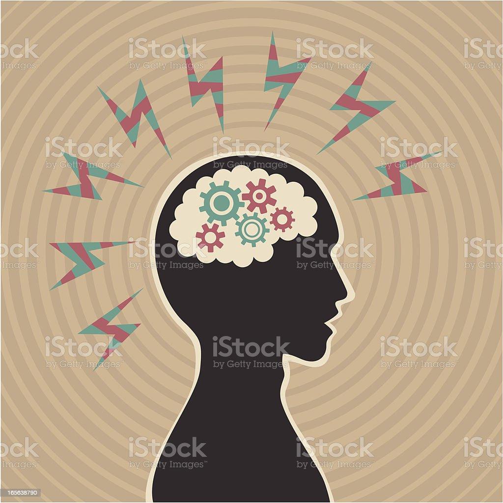 Migraine royalty-free stock vector art