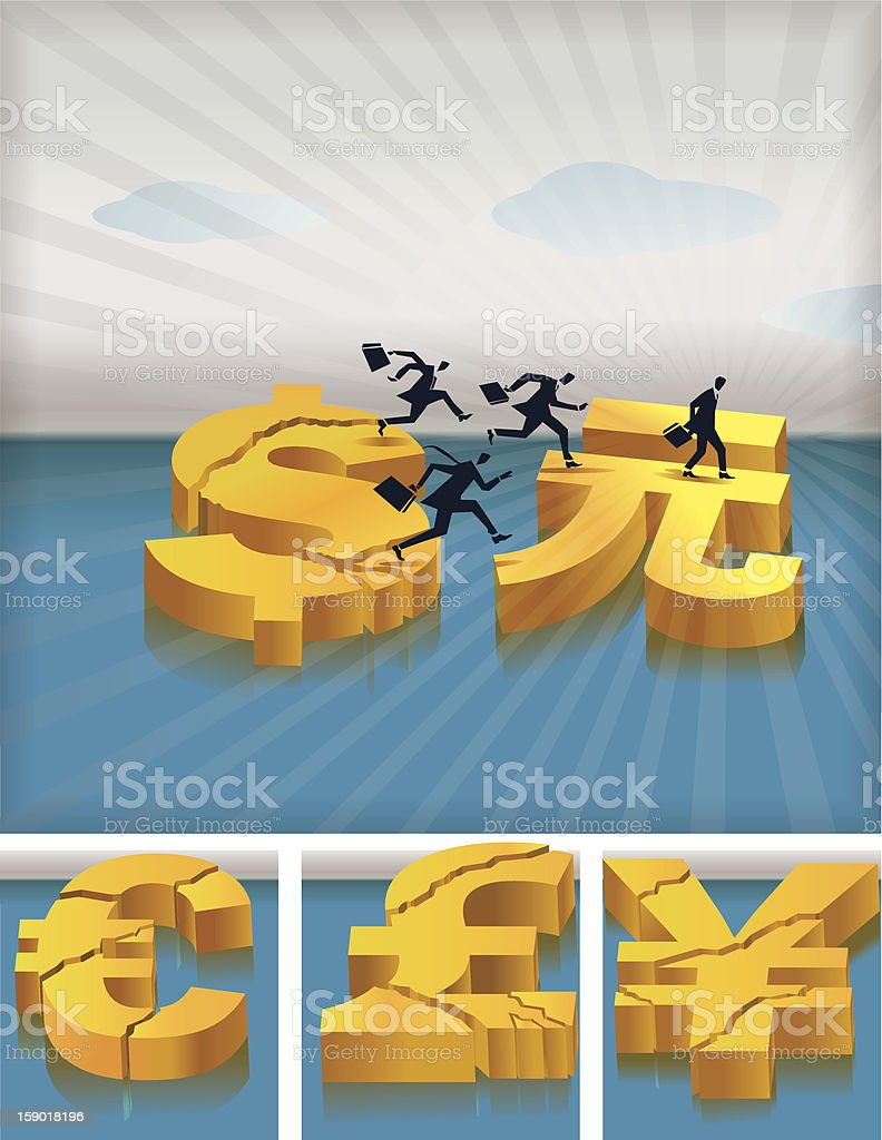 Migrating investments royalty-free stock vector art