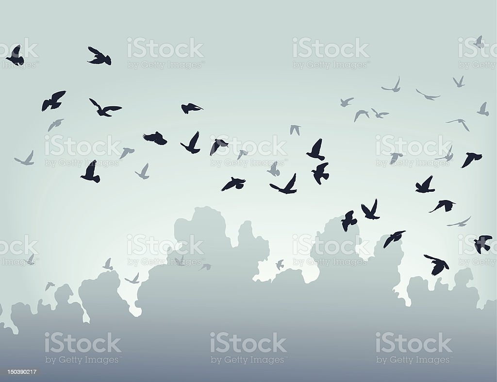 Migration royalty-free stock vector art