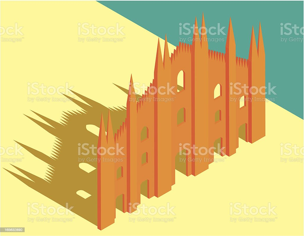 Milan Cathedral royalty-free stock vector art