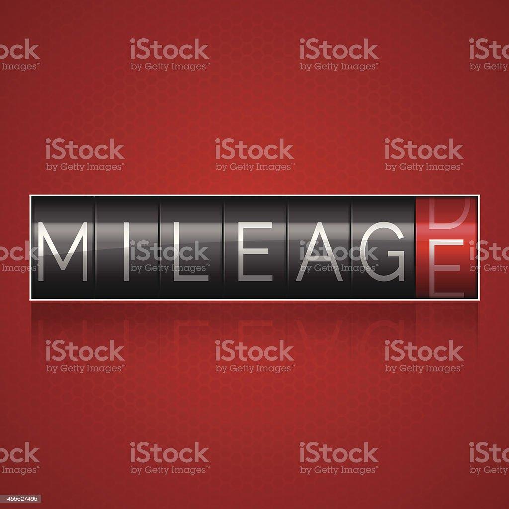 Mileage Odometer vector art illustration