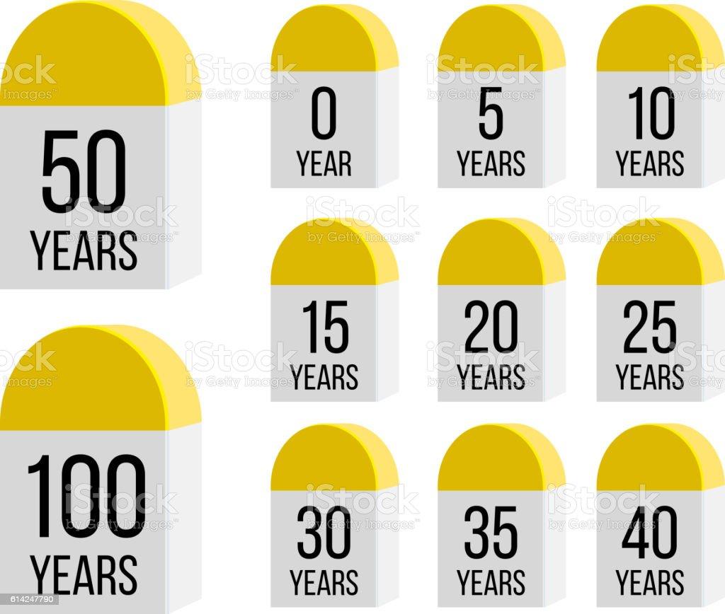 Milestone Timeline vector art illustration