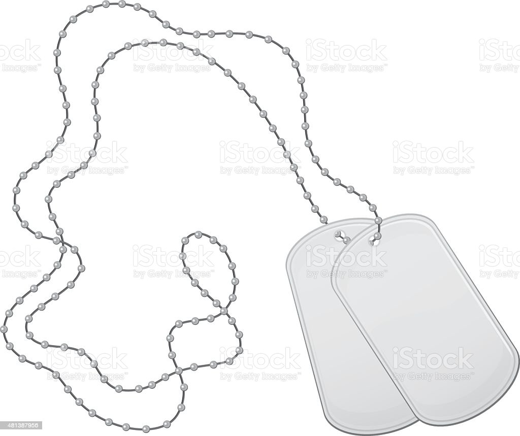 Military Armed Forces Dog Tags vector art illustration