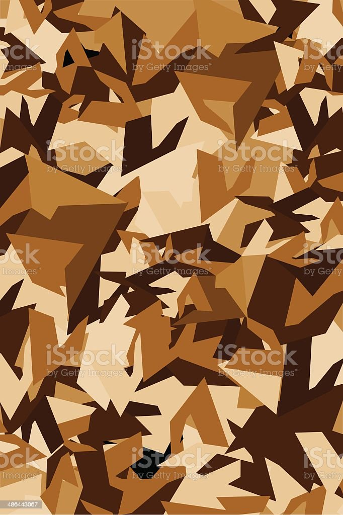 Military Desert Style Camouflage Pattern royalty-free stock vector art
