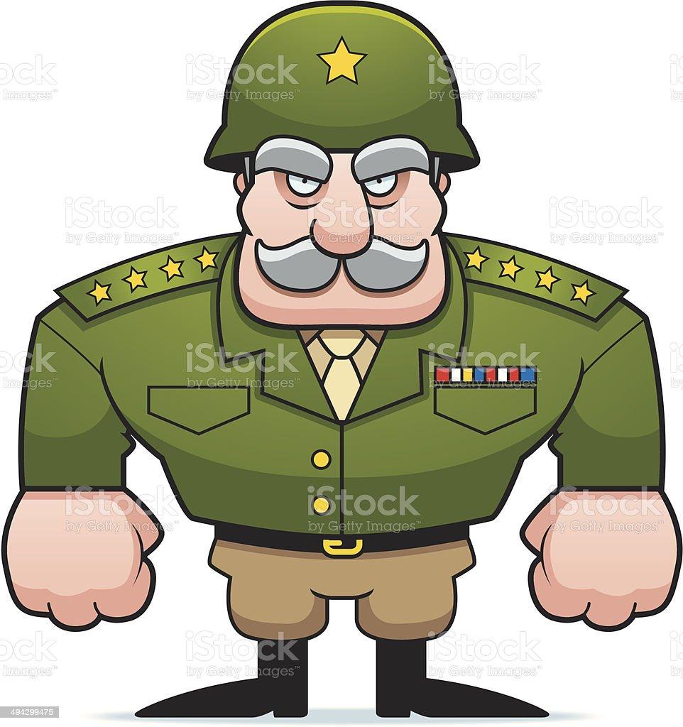 Military General vector art illustration