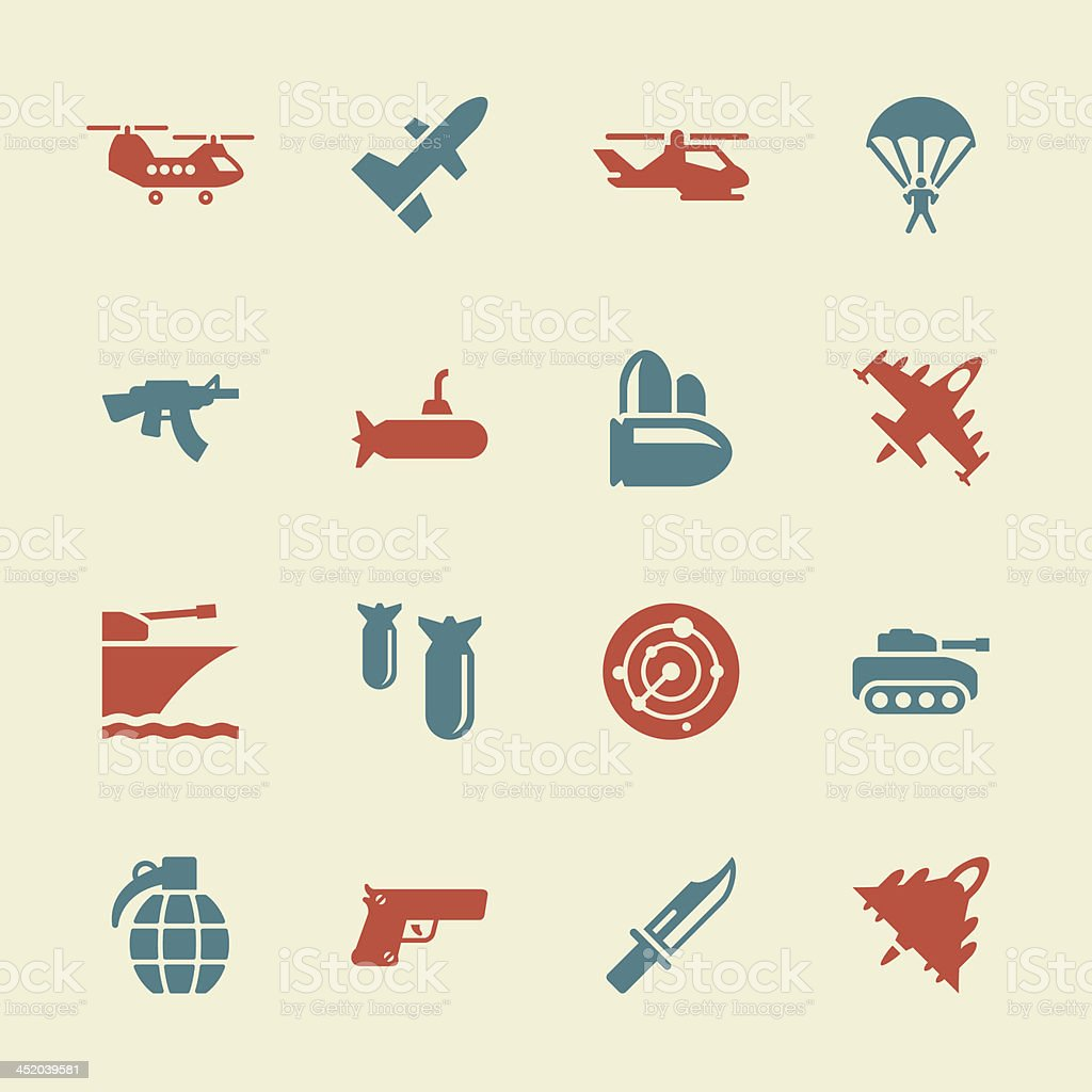 Military Icons - Color Series | EPS10 royalty-free stock vector art