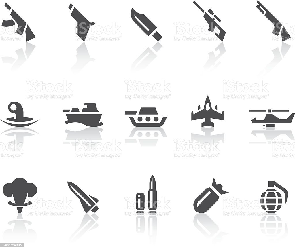 Military Icons | Simple Black Series royalty-free stock vector art