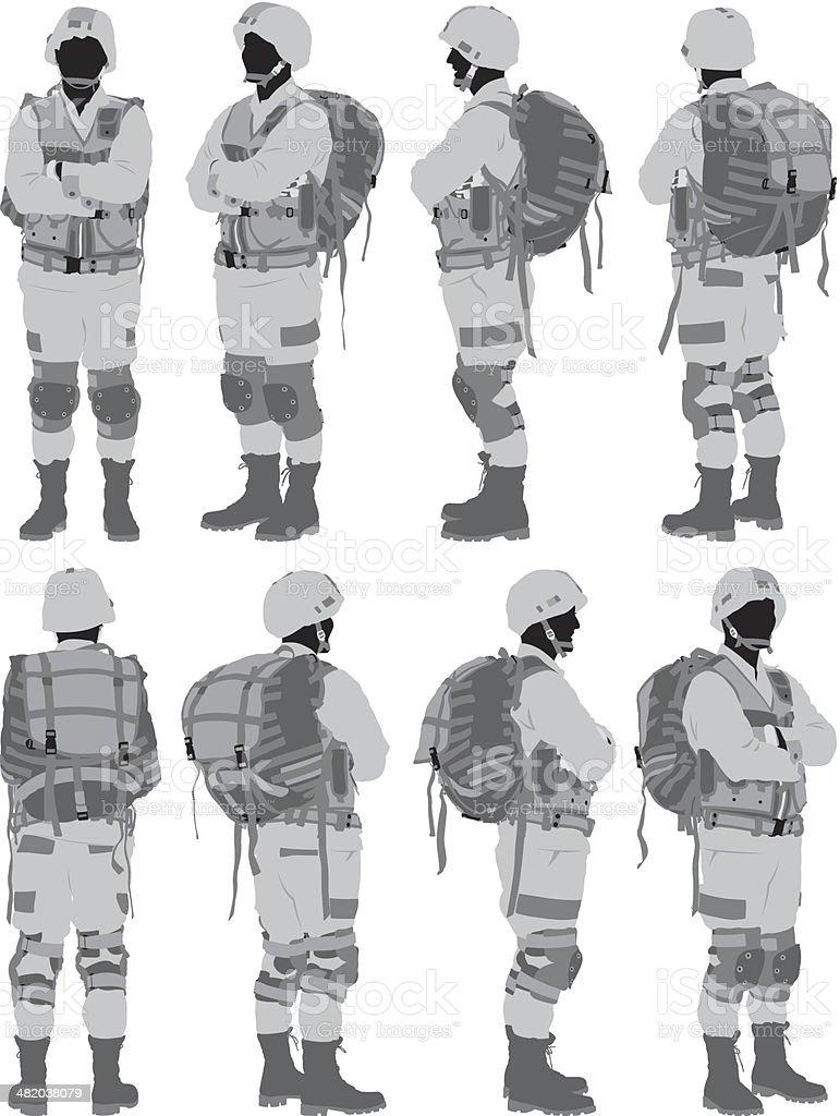 Military man royalty-free stock vector art