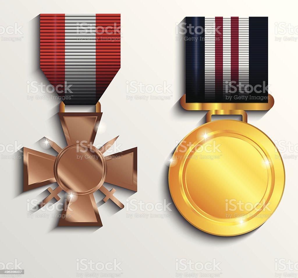 Médaille militaire stock vecteur libres de droits libre de droits