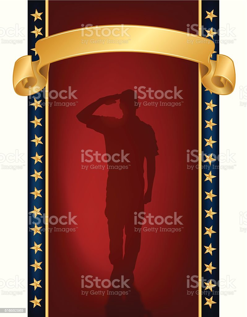 US Military or Boy Scout Salute Background vector art illustration
