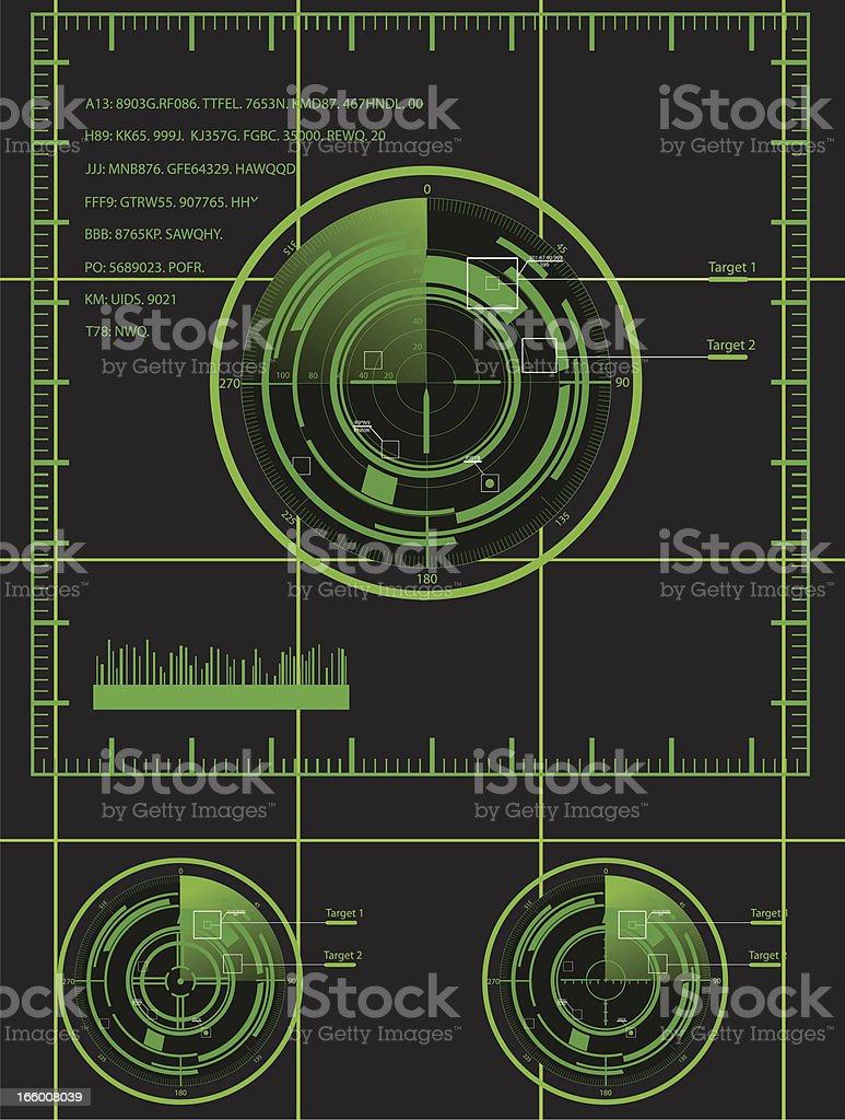 Military radar set royalty-free stock vector art