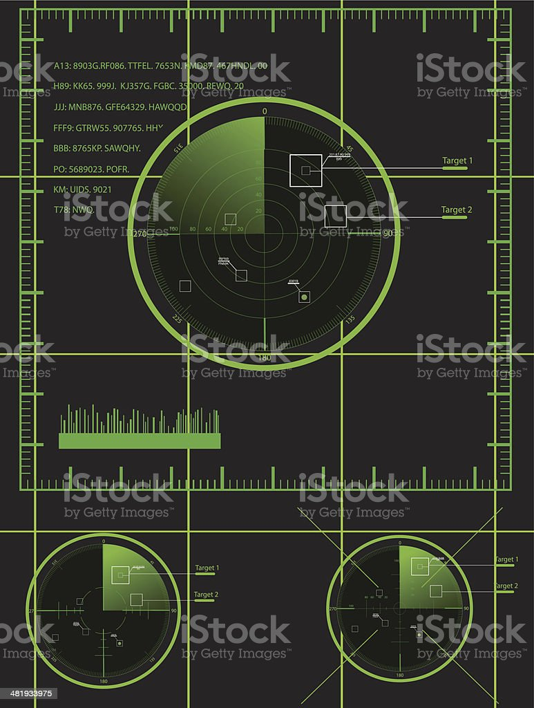 Military radar royalty-free stock vector art