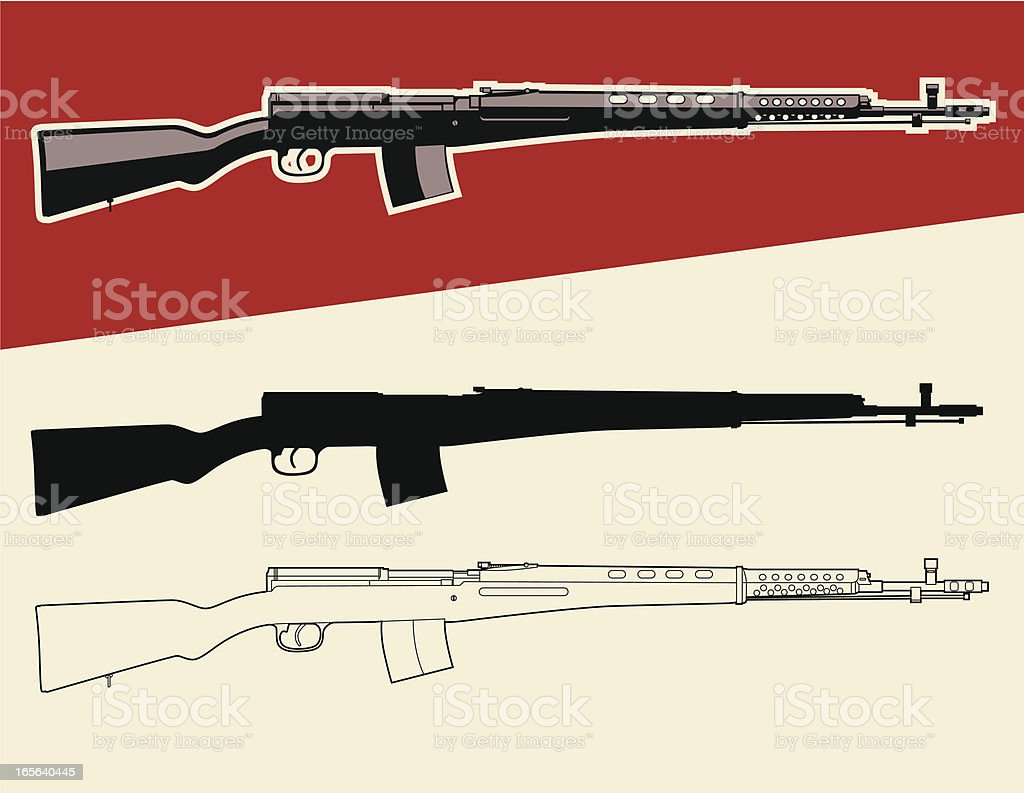 Military Russian Rifle royalty-free stock vector art