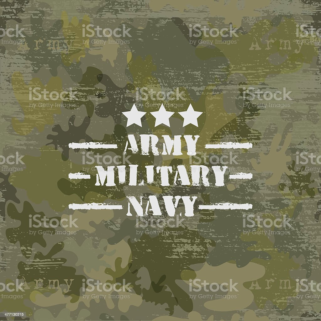 Military seamless background with text vector vector art illustration