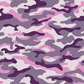 Military seamless pattern. Vector illustration